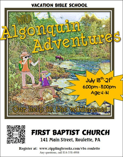 7-18/19/20/21 VBS at Roulette Baptist Church