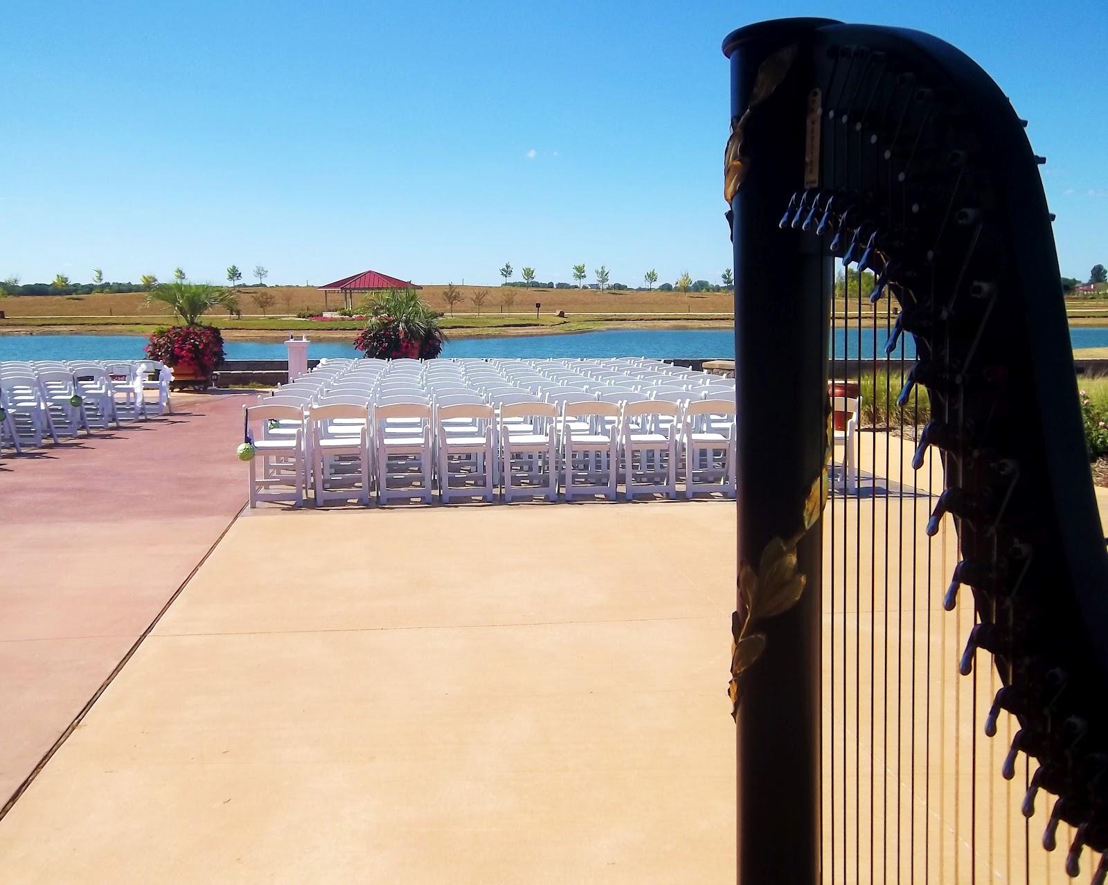 The Classic Harpist Wedding Music in Springfield Illinois  Harpist at Erins Pavilion