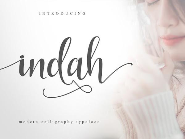 Indah Script Font Free Download