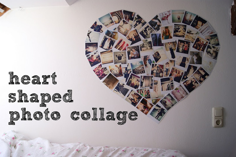heart shaped photo collage all i want is everything. Black Bedroom Furniture Sets. Home Design Ideas
