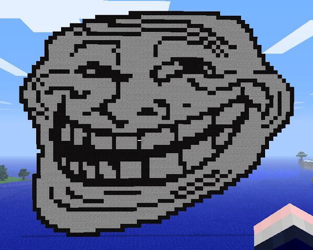 pixelart cara de troll
