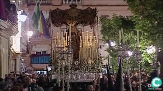 María Santísima de los Dolores por la Plaza Candelaria. Semana Santa de Cádiz 2019