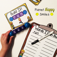 Constructing Words, CVC Word Building, Planet Happy Smiles