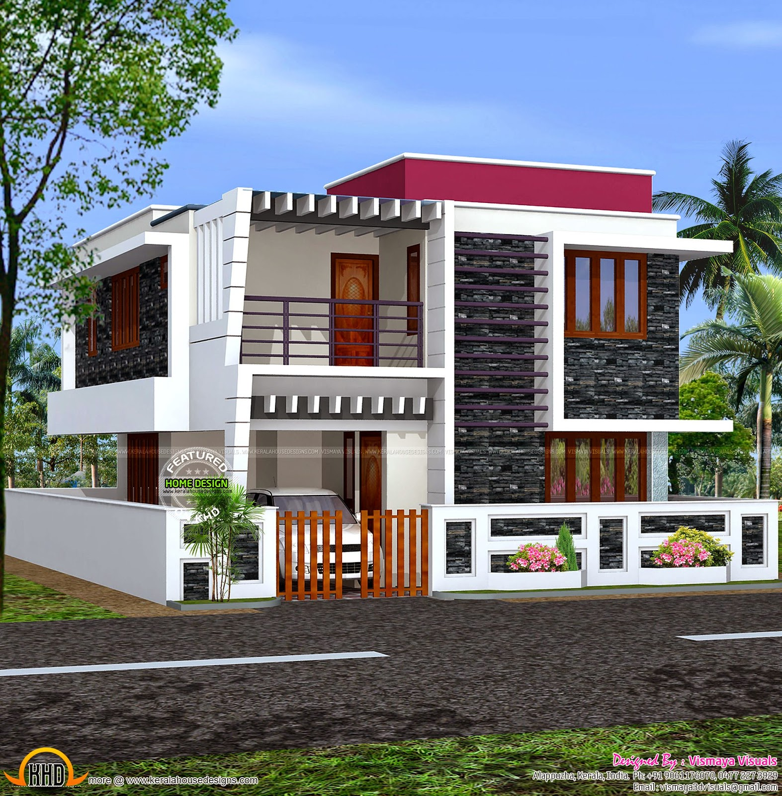 January 2015 kerala home design and floor plans for Small modern house plans two floors