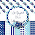 Kit digital flor azul