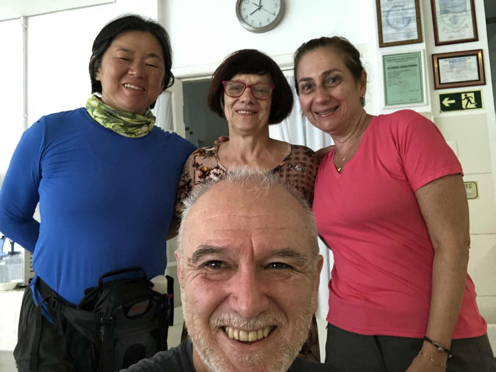 Dona Gleci e nós Hospedaria Bom Pastor