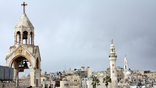 Rooftop of the nativity church in Bethlehem