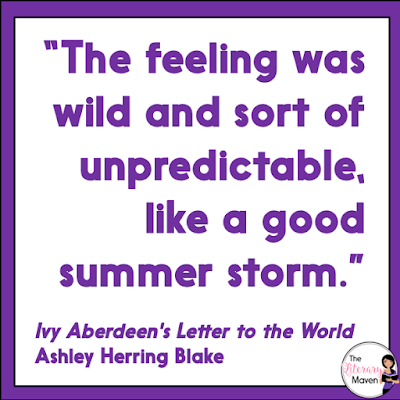 Ivy Aberdeen's Letter to the World by Ashley Herring Blake is a sweet middle grades read focuses on a preteen girl who is figuring out her sexual identity and struggling to find normalcy after her town is struck by disaster. Read on for more of my review and ideas for classroom application.