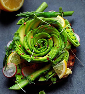 avocado rose on toast recipe