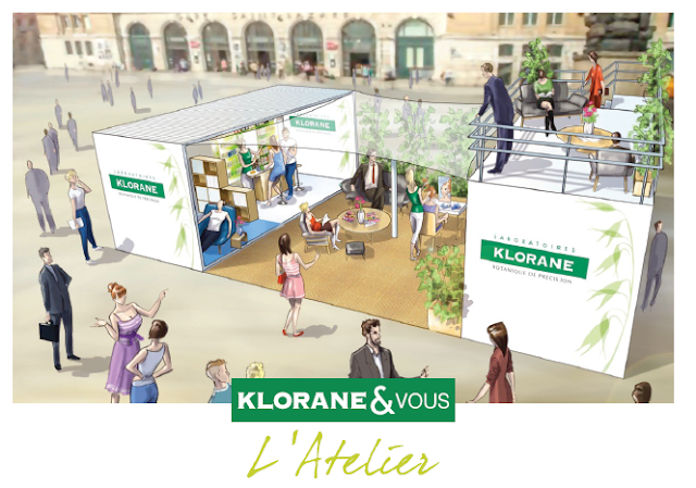 pop-up atelier beauté de Klorane