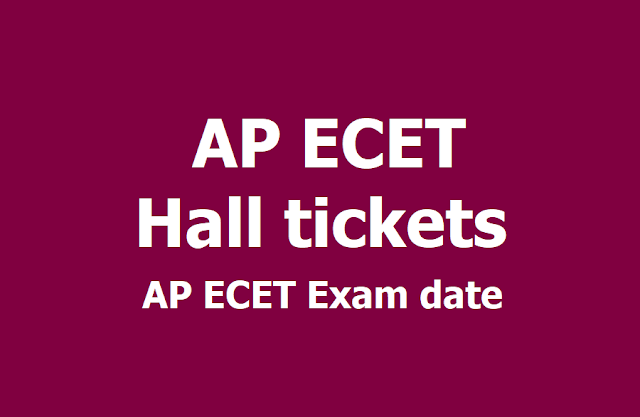 AP ECET 2019 Hall tickets /Admit cards, Entrance Exam date