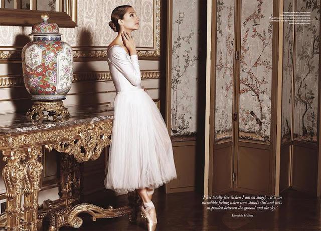 Dorothée Gilbert con joyas de Piaget para la revista Where