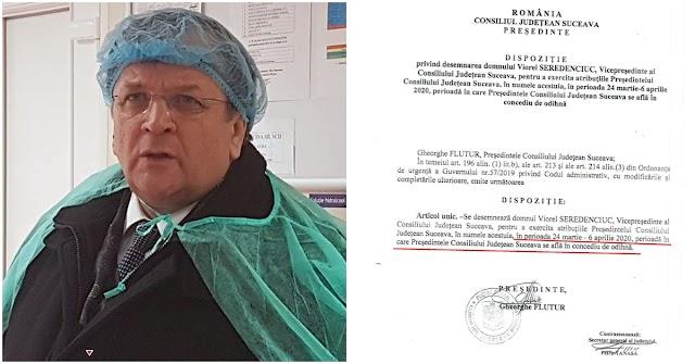 În plină criză, Gheorghe Flutur și-a luat concediu de odihnă înainte de a fi confirmat oficial cu Covid-19
