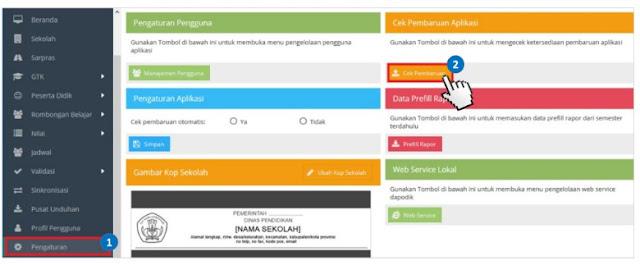 Langkah-Langkah Melakukan Pembaruan Secara Online Aplikasi Dapodikdasmen Versi 2020.a - dapo.dikdasmen.kemdikbud.go.id