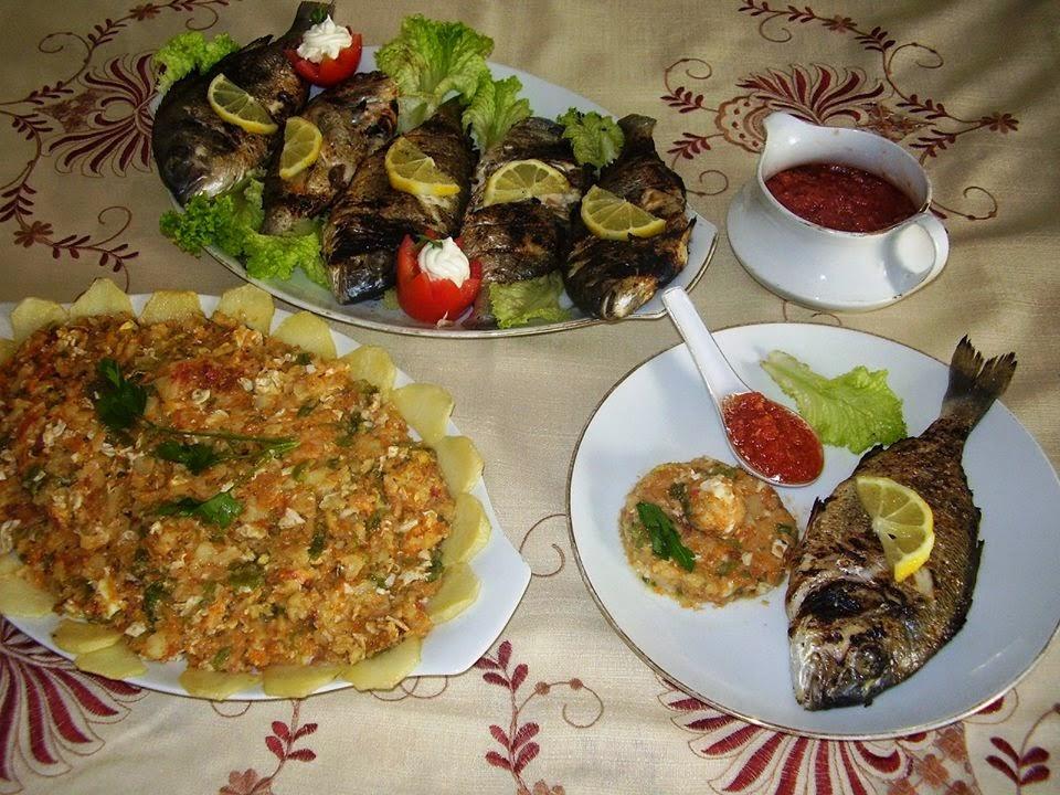 Recette du complet poisson avec sa tastira tunisienne et sa sauce kerkenaise