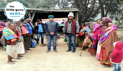 Young social worker doctor Dr. Gopal distributed blanket among hundreds of people troubled
