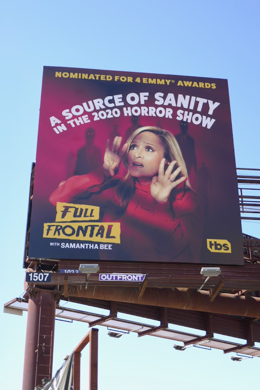 Full Frontal Samantha Bee 2020 Emmy billboard