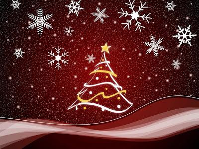 Papel de parede natalino árvore de natal