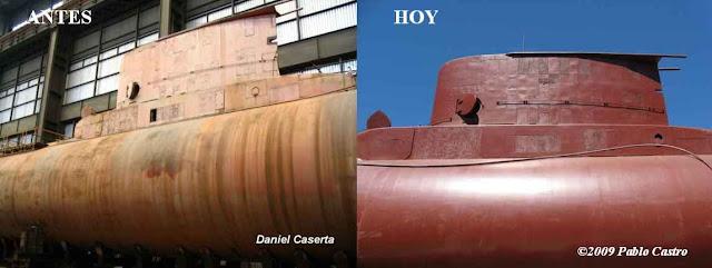 S-32 ARA San Luis: antes y después del trabajo de preservación realizado en 2008