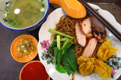 Malaysia Chiak, char siew noodles