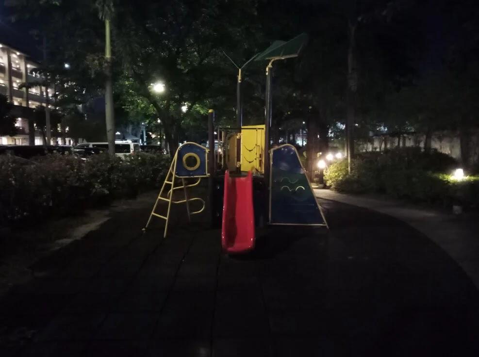 Infinix HOT 10 Play Camera Sample - Night, Playground