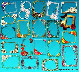 Floral frame 2020 multi design PNG