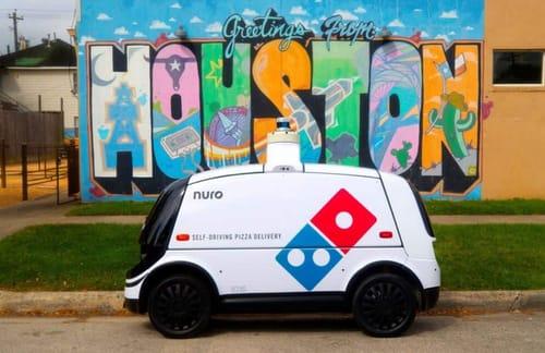 Nuro's self-driving robot delivers Domino's Pizza orders