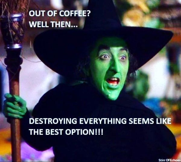 Out of coffee?