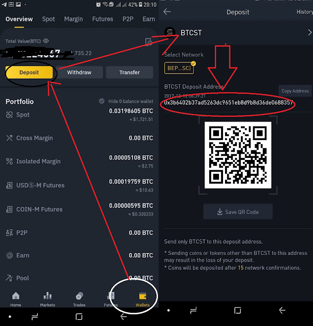 How to get crypto address on Binance