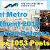 Mumbai Metro Recruitment 2019 Notification Released- Apply for 1053 Posts @ mmrda.maharashtra.gov.in