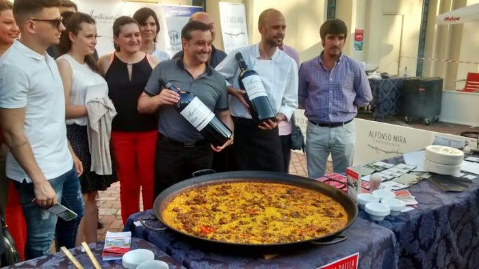Showcooking Restaurante Alfonso Mira en la Ruta de la Paella Madrid