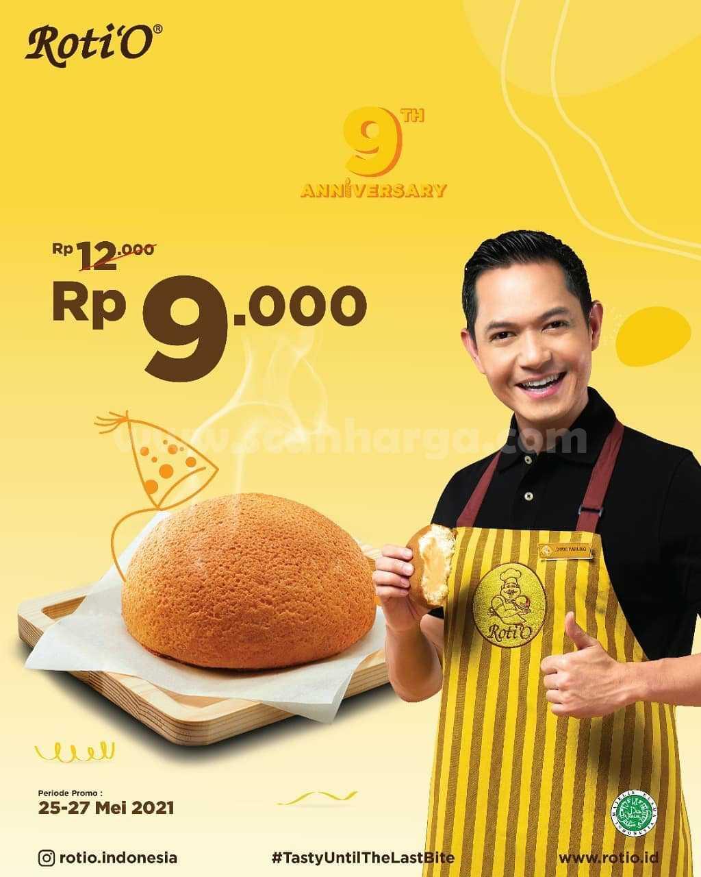 Promo RotiO 9th Anniversary! Harga Spesial ROTI O hanya Rp 9.000