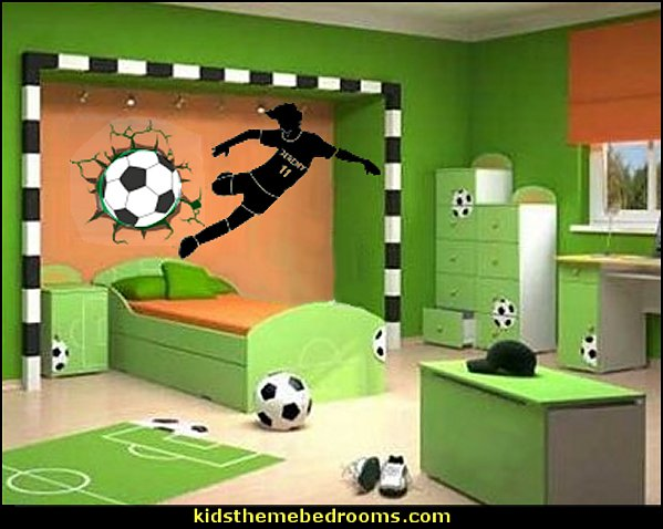 Soccer bedroom decorating ideas boys sports football bedroom ideas sports bedroom decorating