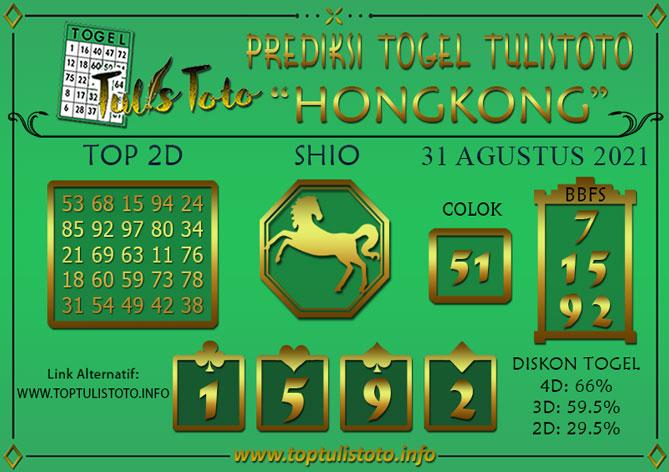 Prediksi Togel HONGKONG TULISTOTO 31 AGUSTUS 2021