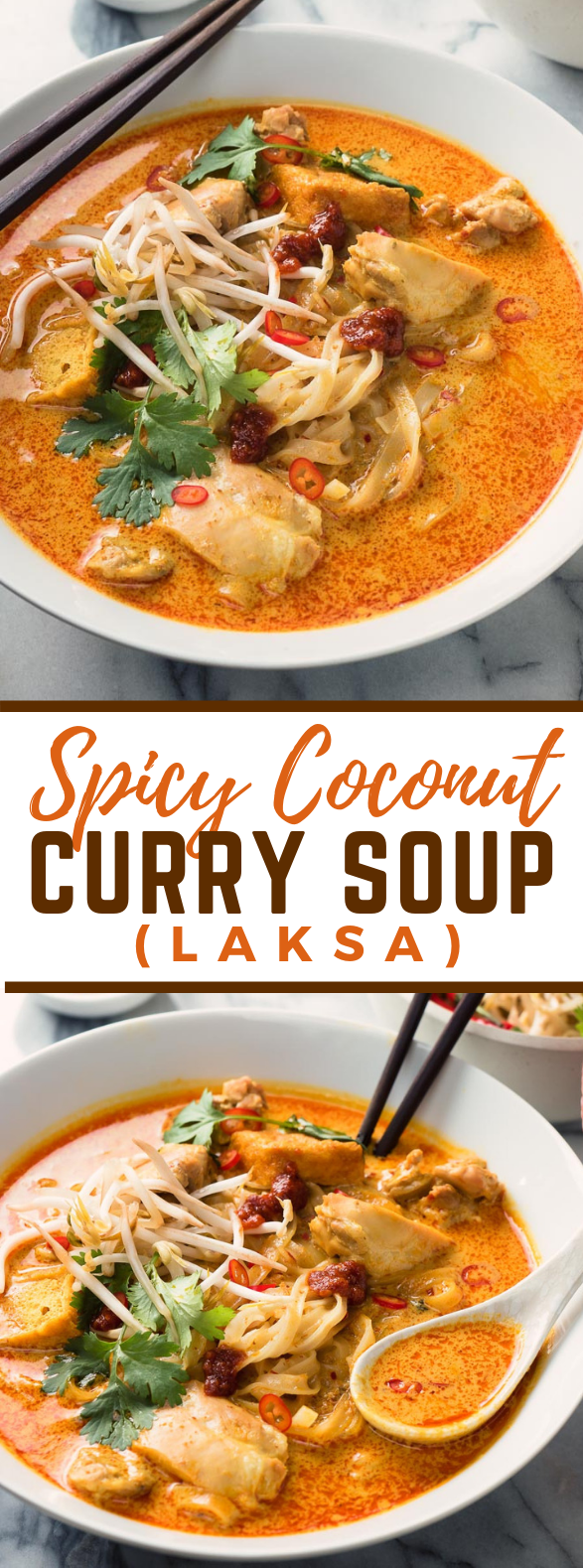 laksa - spicy coconut curry soup #asianfood #dinner