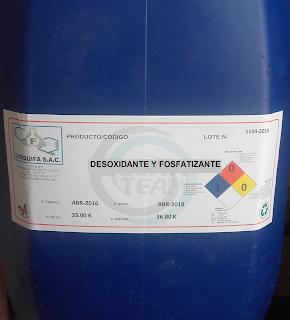 Multifox desoxidante producto de limpieza Corquifa