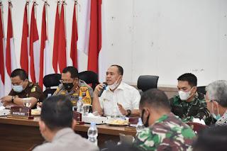 Bupati Gelar Rapat Penguatan Lintas Sektoral Dalam Penanggulangan Covid-19 Di Batu Bara