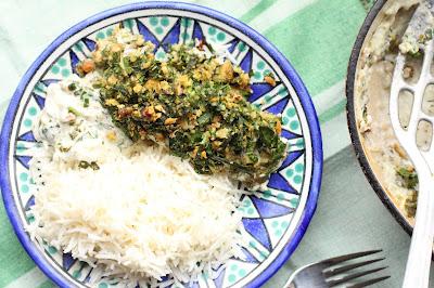poisson et herbes à l'iranienne