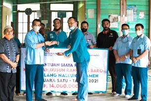 PT PIM Krueng Geukueh Bantu Renovasi Meunasah Dusun Rancong Baroh Blang