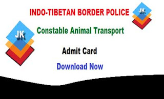 ITBP Constable (Animal Transport 85 Posts