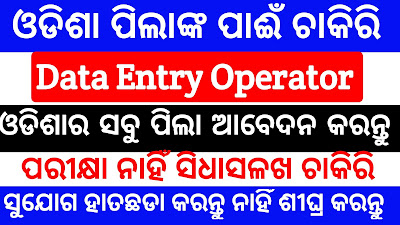 Data entry operator job in odisha baleswar