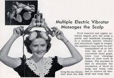 Multiple Electric Vibrator Massages the Scalp