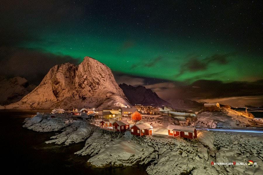 Hamnøy, auroras boreales