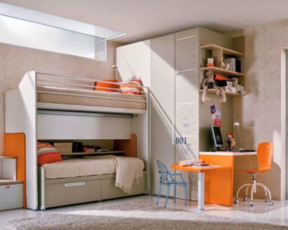 cuarto juvenil gris naranja