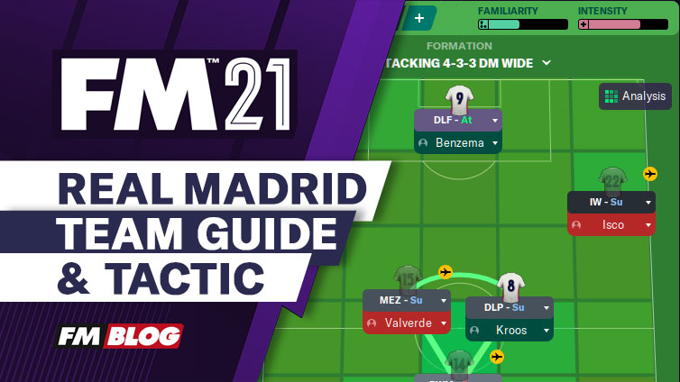 Football Manager 2021 Real Madrid 4-3-3 Tactic | Team Guide | FM21