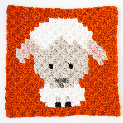 Zoodiacs Sheep C2C Crochet Graph
