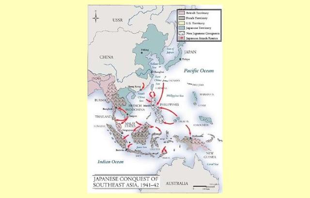Peta Penyerangan Jepang ke Indonesia