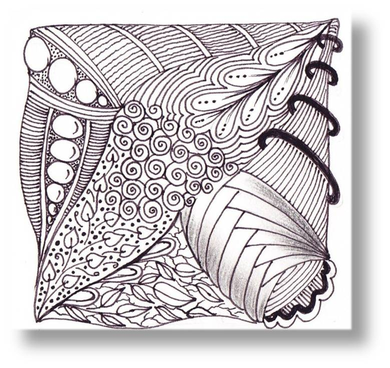 Journey through zentangle art zentangle tiles for Zentangle tile template