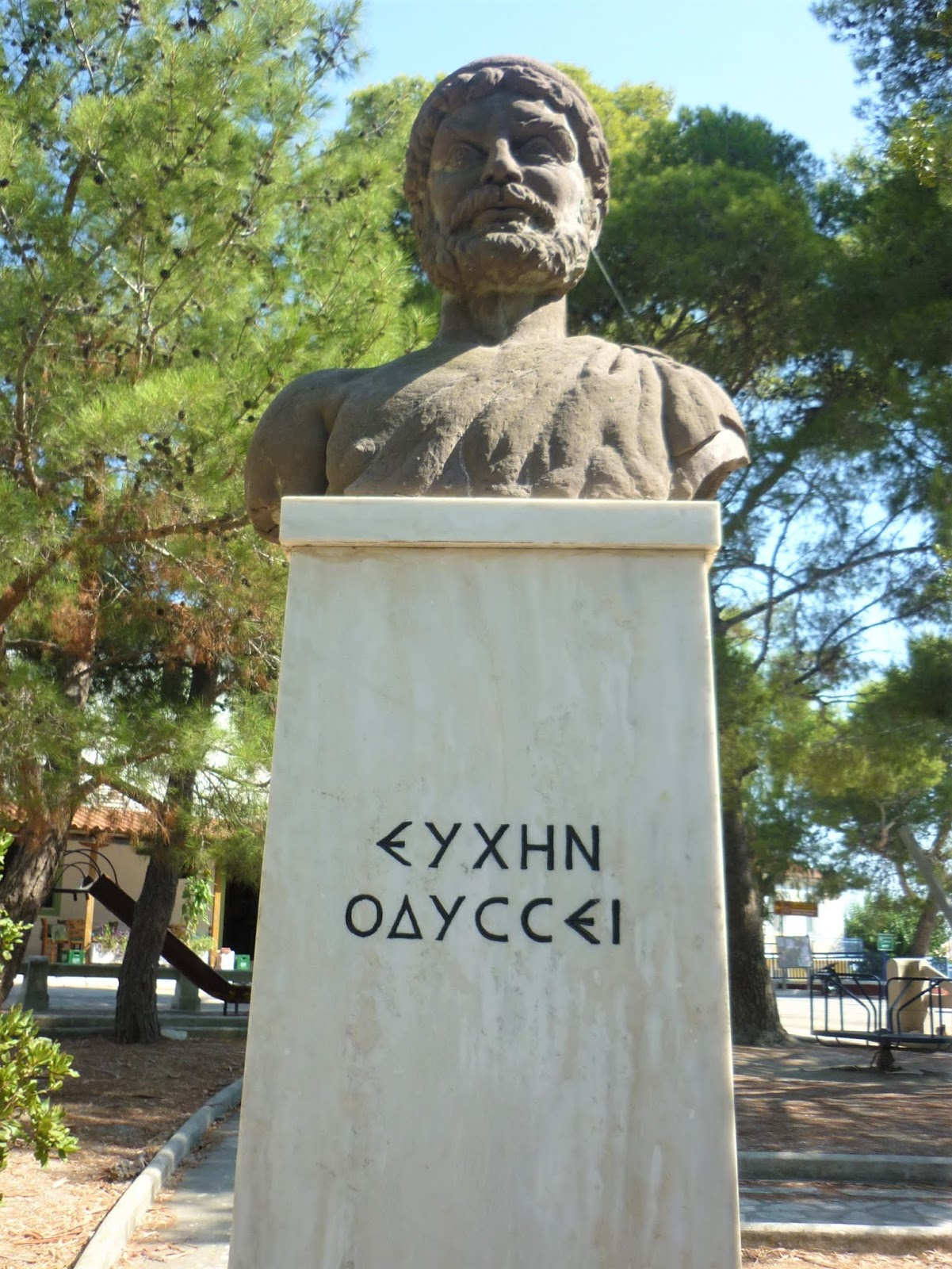 Stavros e il busto di Ulisse