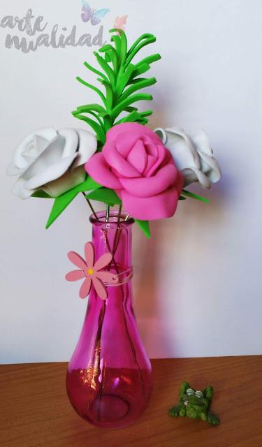 Rosas de goma eva